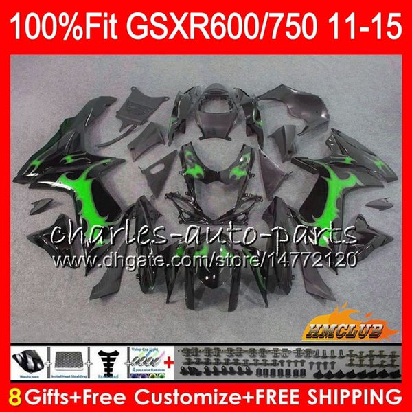 Injection Glossy black Para SUZUKI GSXR750 GSXR-600 GSXR600 11 12 13 14 15 16 10HC0 K11 GSXR 600 750 2011 2012 2013 2014 2015 2016 Fairing
