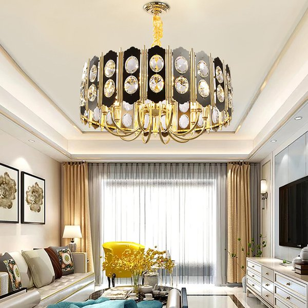 Contemporary Crystal Chandelier Lighting Fixture Black K9 Crystal  Chandeliers Lights Living Room Bedroom Dinning Room Led Hanging Lamp  Chandeliers ...