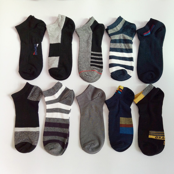 5 Pairs Mens Cotton Socks Lot Loafer Boat Invisible No Show Low Cut Casual Socks