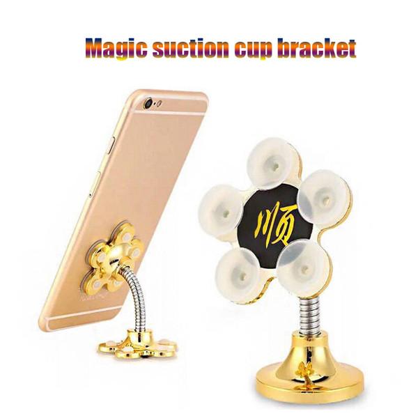 Universal Magic Suction Cup Bracket Desk Phone Holder Stand Phone double-sided suction Car Mobile Navigation Bracket Desktop