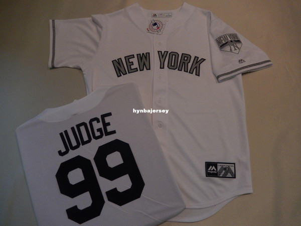 """Cheap custom New York #99 AARON JUDGE """"Limited Edition"""" Baseball Jersey WHITE New Mens stitched jerseys Big And Tall SIZE XS-6XL For sale"""