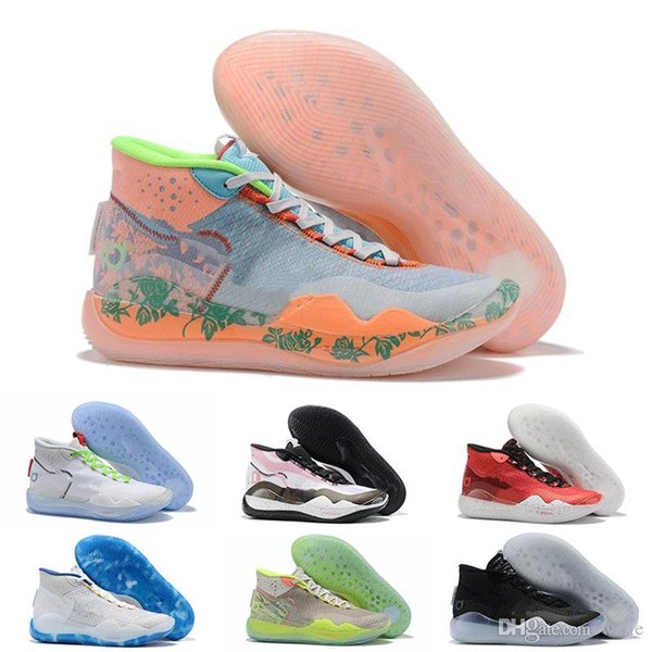 2019 KD 12 EYBL Orange Foam Pink Paranoid Oreo ICE Basketball Shoes Kevin Durant XII KD12 Kds Mens Sports Trainers Sneakers Size 7-12