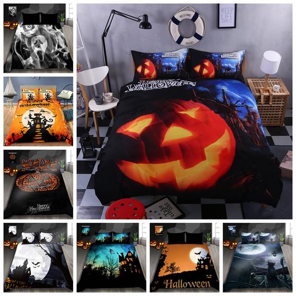 Copripiumino moda Bedding Set King Size 3D stampato per Halloween regina Doppia completa Singola Doppia Soft Cover Comfortable Bed
