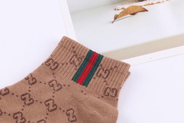 Nuevo estilo europeo y americano, mujer, calcetines de barco, algodón, carta, calcetines cortos, marca de marea, calcetines de mujer.