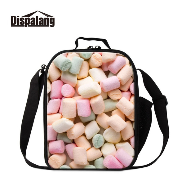 Famous Spun Sugar Photo Cute Insulated Thermal Lunch Kit Picnic Meal Bags for Kids Fashion Brand Designers Cooler Bag for Girl