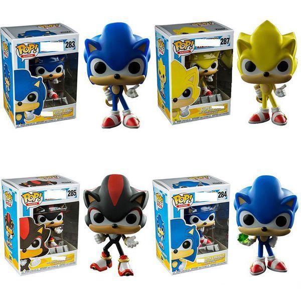 FUNKO POP Sonic Boom Amy Rose Sticks Tails Werehog PVC Figurines Knuckles Dr. Eggman Anime Pop Figurines Poupées Jouets d'enfants
