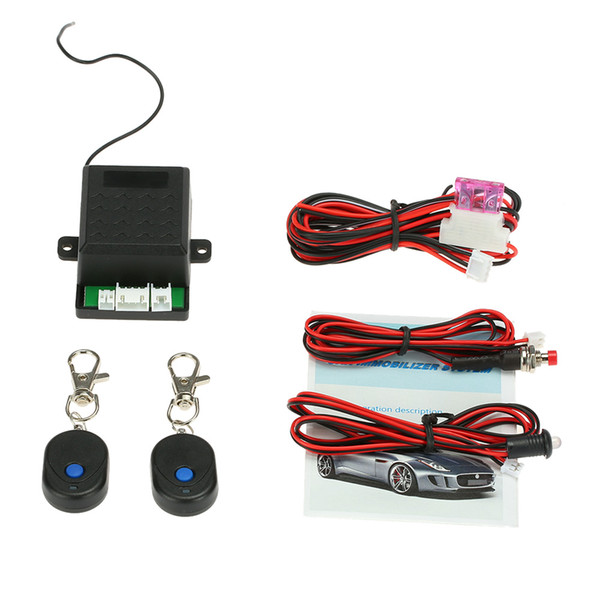 Freeshipping Car Alarm Auto System Anti Theft Security Alarm Protection with 2 Remote Controller Control Central Locking Immobilizer