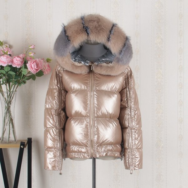 Ouro real Fox Fur Collar