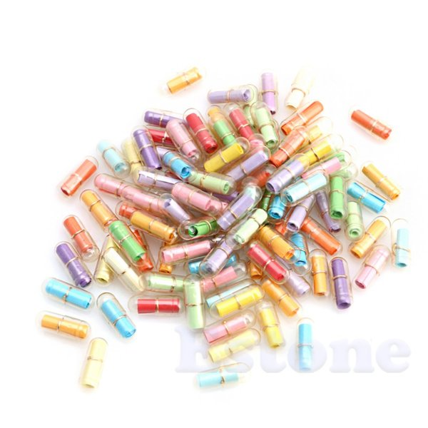 Wholesale message love resale online - ecoration Crafts Bottles Jars amp Boxes Pack Message in a Bottle Message Capsule Letter Cute Love Pill Full Clear Mini Wish Bott