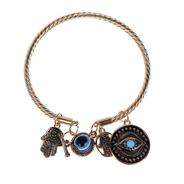 Fatima Hamsa Cristal À La Main Bracelet Bracelet Réglable Extensible Bracelet Bracelet AMOUR Coeur breloque Pour Femmes Pulseira Bijoux Cadeaux