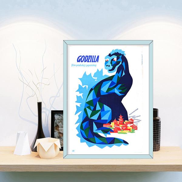 Godzilla Film Anime Affiche Peinture sur Toile Chambre Mur Art Décoration Photos Pour enfant Salon Décor À La Maison
