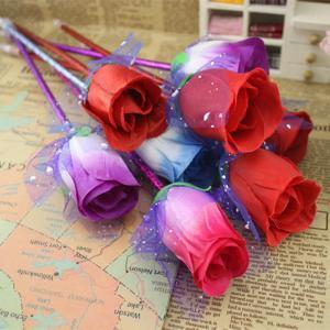 Rose fleur stylo papeterie créatif stylo étudiant parti faveur cadeau de la Saint-Valentin papeterie école de fournitures de bureau stylo wrtting FFA1500
