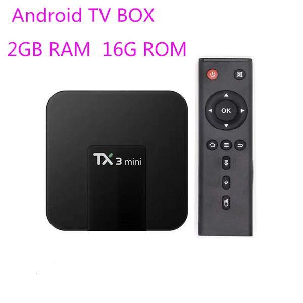top popular TX3 mini Android 7.1 TV Box Amlogic S905W Quad Core 2GB 16GB 2.4G Wifi Media Player Better X96mini MXQ PRO 2021