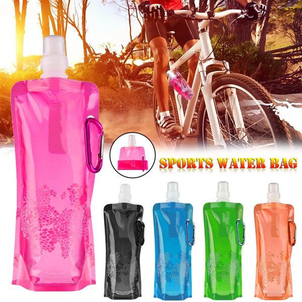Bolsa de agua plegable ultraligera portátil Botella de matraz suave Deporte al aire libre Senderismo Bolsa de agua para acampar