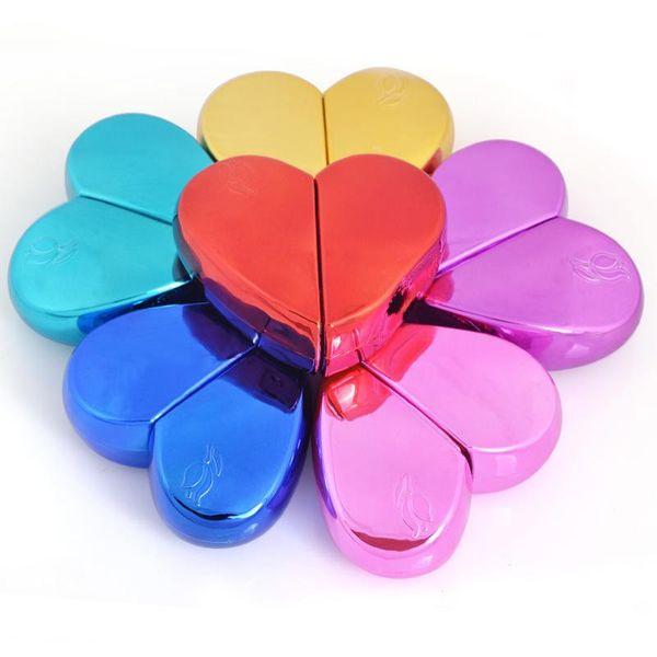 best selling 6 Colors 20ml Heart Shaped Perfume Bottle Portable Fillable Empty Perfume Spray Bottle Sub-Bottle Travel Love Glass Spray Bottle BH1865 CY