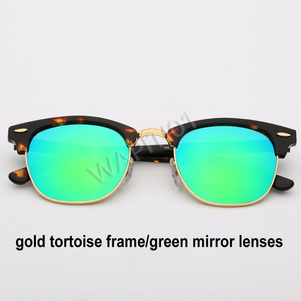 الذهب السلحفاة الخضراء مرآة