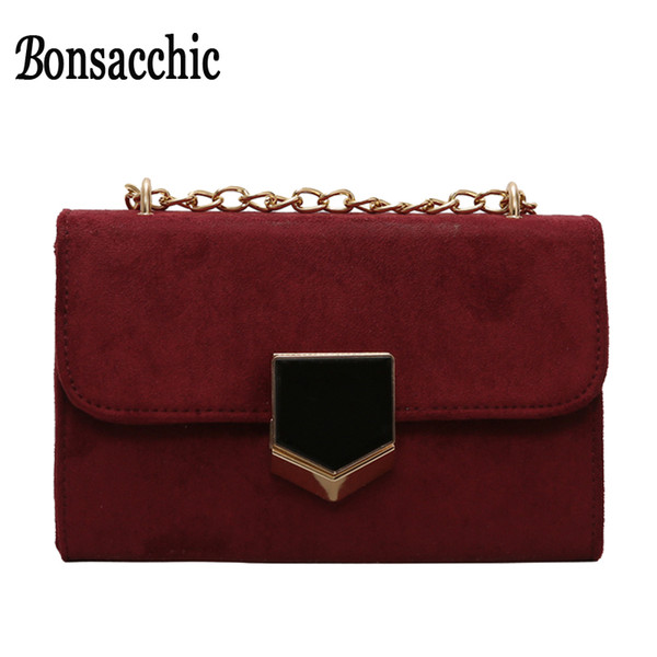 Bonsacchic luxury Women Mini Shoulder Handbag Fashion Women Small Messenger Chain Bag Vintage Ladies Crossbody Bag High Quality
