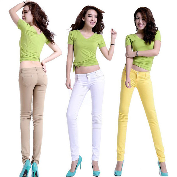 womens stretch coloured jeans