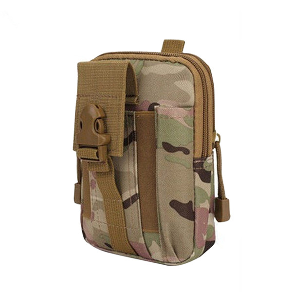 Tactical Duffle Waist Pack Hand Carry Camping Belt Bag Rucksack Outdoor Bumbag (CP Camouflage)