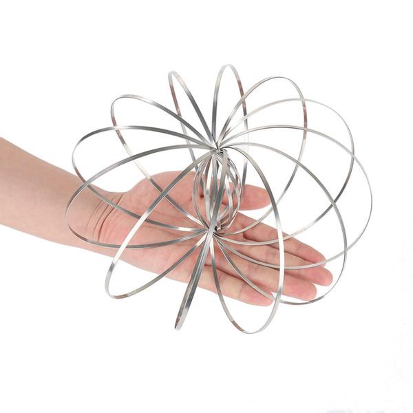 Bracelet anti-stress Bracelet Flow Ring Kinetic Printemps Jouet Soulagement du stress 3D Sculpture Anneau Circulant Jouets pour Enfants Cadeau D'adulte