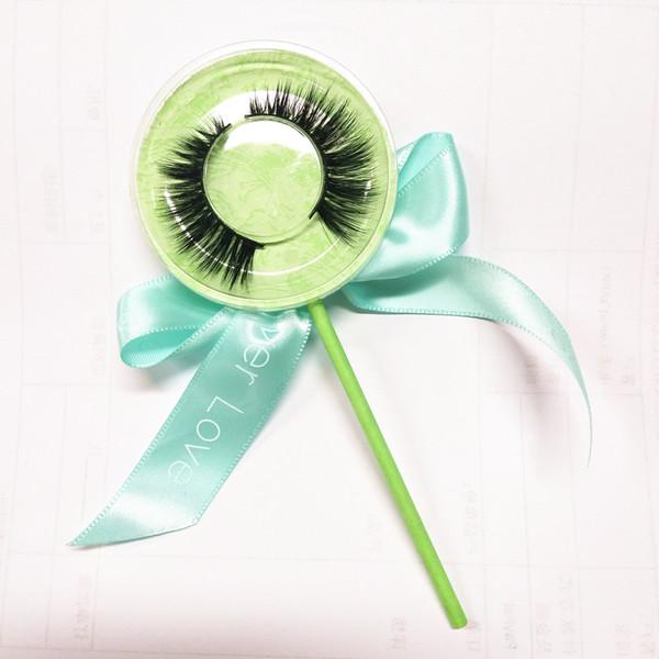 Lashworld Mink Lashes 3D Silk Protein Mink False Eyelashes Long Lasting Lashes Natural Mink Eyelashes Lollipop Box Packaging