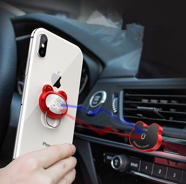New Type of Magnetic Absorption Vehicle-borne Finger Ring Buckle Support Multi-functional Creative Vehicle Outlet Support Adhesion