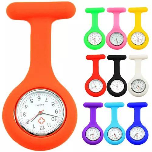 All'ingrosso-New Cute Silicone infermiera orologio spilla Fob Pocket Tunic movimento al quarzo N76Y