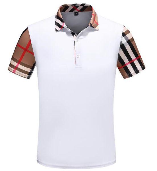 Moda BB 2019 diseñador de la marca polos camisa para hombre de verano de manga corta de algodón Polo con tigre bordado hombres Casual de lujo Medusa camisetas camiseta