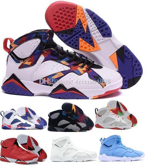 lfssba 7 Basketball Shoes Men Women 7s Purple UNC Bordeaux Olympic Panton Pure Money Nothing Raptor N7 Zapatos Trainer Sport Shoe Sneaker