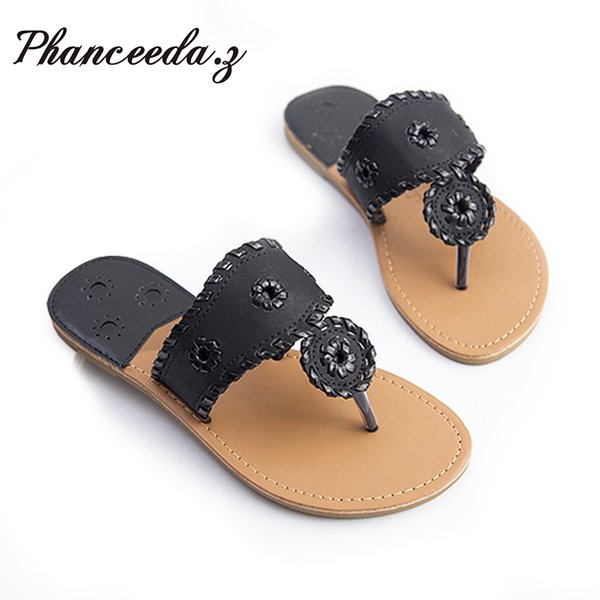 New 2019 Summer Style Shoes Women Sandals Fashion Bling Flats Solid Flip Flops Sexy Slippers Top Quality Size 6-11