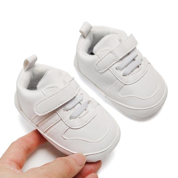 SneaIers otoño Moda anti-deslizamiento del niño con suela blanda ocasional de la PU primeros zapatos del caminante 0-12M recién nacidos muchachas de los bebés informal Shoes1
