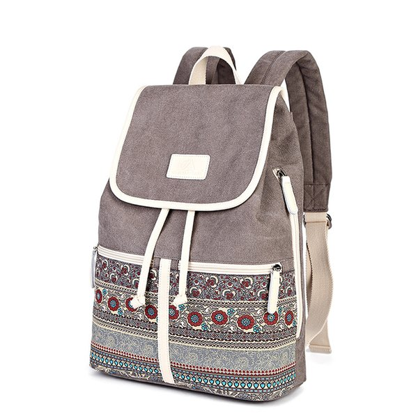 New Fashion Women Backpacks Embossing High Quality Canvas Female Ladies Bag Korean Student Backpack Girl Preppy Style School Bag