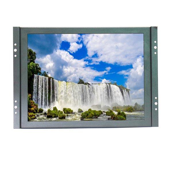 top popular Zhixianda 10 inch metal shell open frame industrial monitor 800*600 BNC monitor HDMI VGA 2019