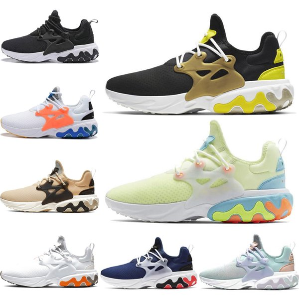 react presto wholesale men women running shoes triple black white light blue yellow sports sneakers mens trainers size 5.5-11 outdoors