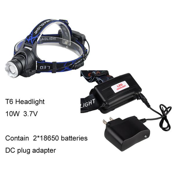 T6 Licht mit Gleichstromadapter