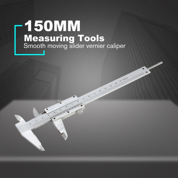 150MM Mini Gauge Measurement Stainless Steel Sliding Vernier Caliper Tool Ruler 6inch Micrometer Measuring Tools