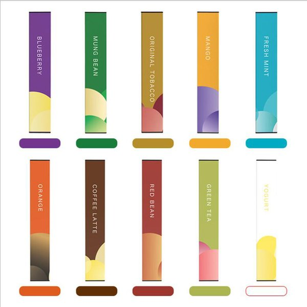 Original small color strip disposable cigarette oil e-cigarette quit smoking instead of cigarettes which have Multiple fruit flavors