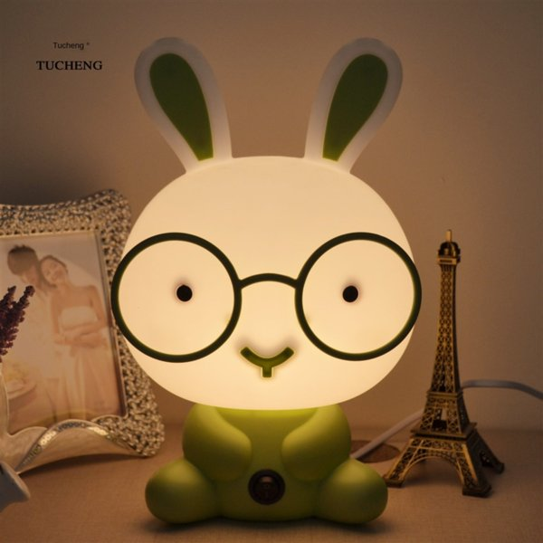 top popular Cartoon cute Kung table headlight desk Fu Panda table lamp decorative children's baby room bedroom bedside plug-in night lamp 2021