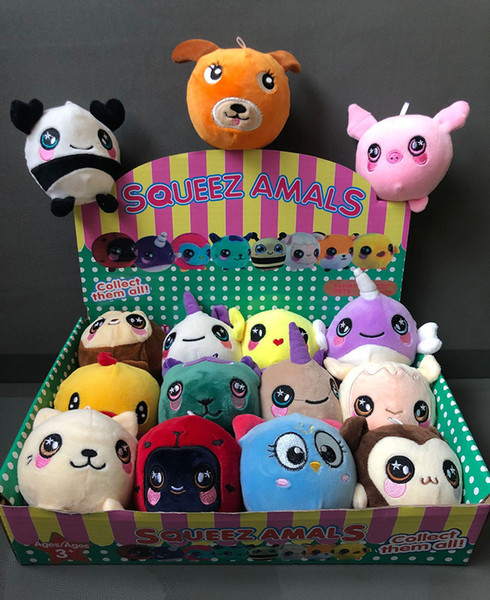 Super Plush Squishy Slow Rising Foamed Stuffed Animal Squeeze Toys Soft Adorable Squishies PU Stress Relief Child Toy