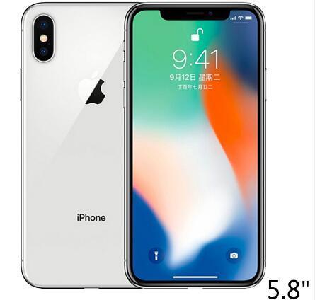 "Original Unlocked Apple iPhone X Hexa Core 256GB/64GB ROM 3GB RAM Dual Rear Camera 12MP 5.8"" 4G LTE refurbished phone"