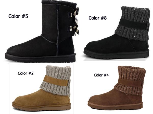 2019 nuevas botas de rodilla de tobillo para mujer Botas de invierno clásicas de Australia para mujer hermosa castaña negro azul rosa café diseñador botas de nieve