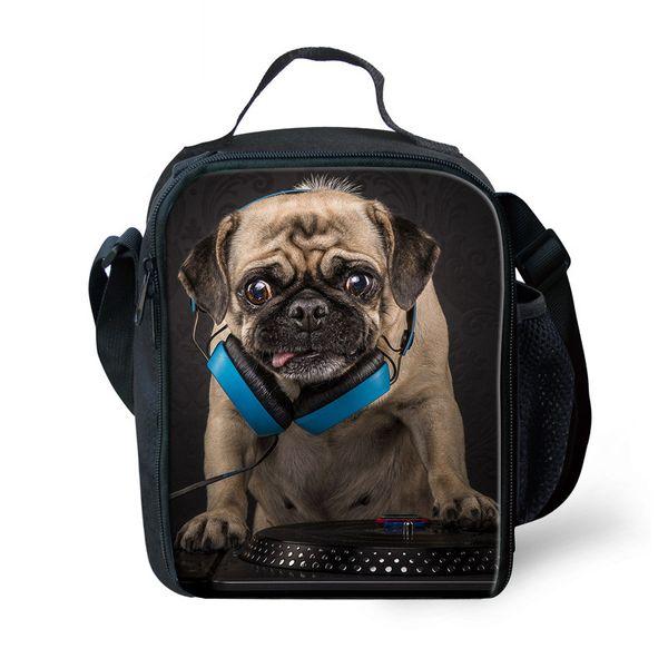 Rock Animal Bulldog Cool Isolé Lunch Bag Enfants boîte sacs Lunchbox Escolar Infantil Pique-Nique Réutilisable Snack Glacière Sac