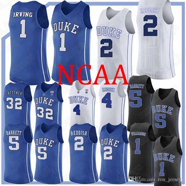 NCAA jerseys Duke Blue Devils College jersey 1 Zion Williamson jersey 5 RJ Barrett 2 Cam Reddish 2019 basketball uniform