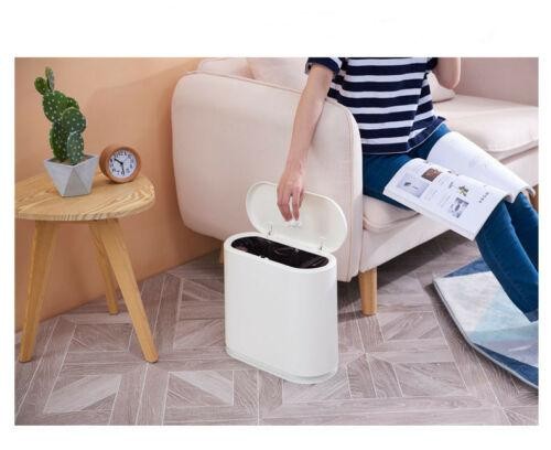 Trash Can Garbage Rubbish Bin Wastebasket Touch Home Bathroom Toilet New Shopping Bags