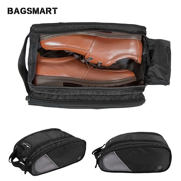 Portable Waterproof Breathable Shoes Bag Unisex Red Travel Shoes Bag Little Luggage Travel