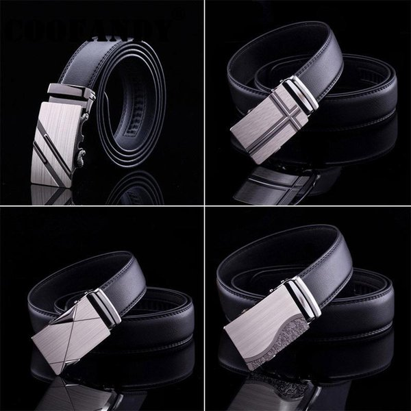 types most 1 8 Mens 4inch One fits Artificial Waist Strap Buckle Bussiness Leather 5cm Men 3 Belts Casual size Automatic