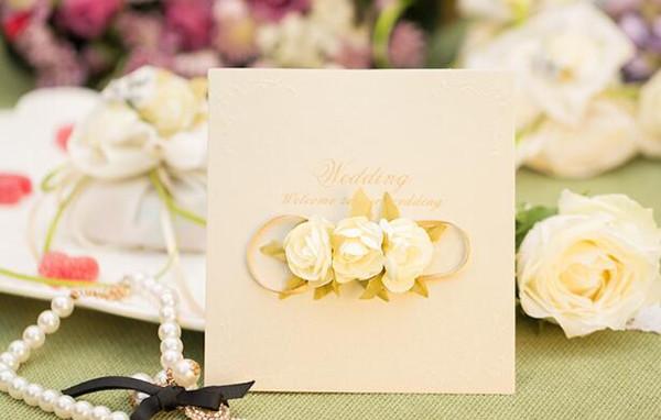 Heiraten Einladungskarte Simulation Rose Grußkarten Persönlichkeit Kreative Hochzeitsdekoration Liefert Red Hot Verkäufe Perle Papier H057
