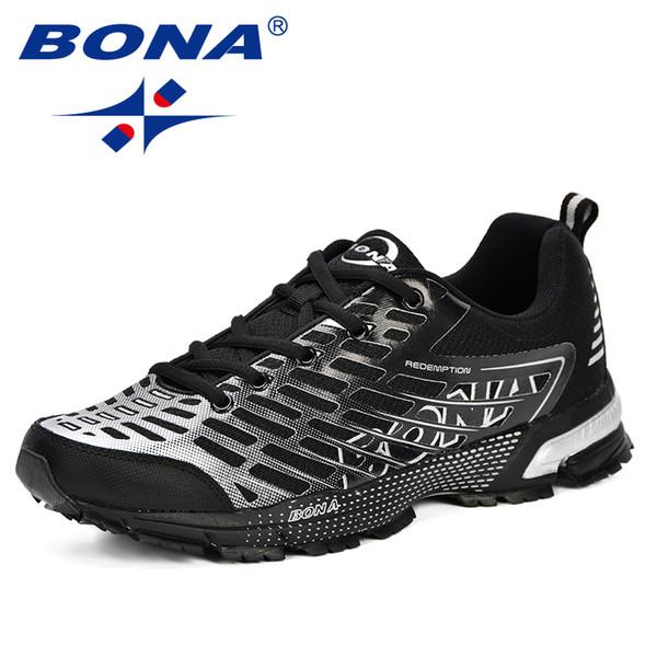 Acheter BONA Nouveaux Hommes Casual Chaussures Marque Hommes Chaussures 2019 Baskets Appartements Maille À Lacets Mocassins Confortable Respirant Plus
