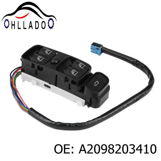 best selling HLLADO Car Auto Power Master Electric Window Switch A2098203410 2098203410 For Benz W209 CLK320 CLK500 2003-2009 High Quality