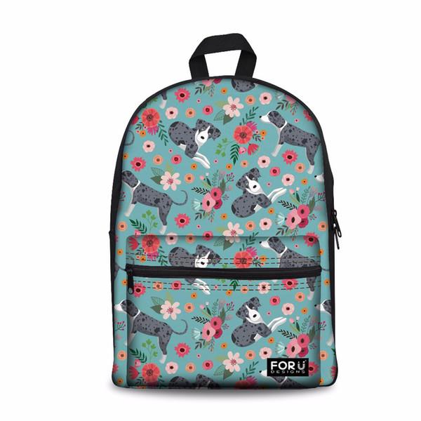 Customized Women Backpack for School Feminine Catahoula Shoulder Laptop Bagpack Teenager Kids Kawaii Book Schoolbag Sac A Dos